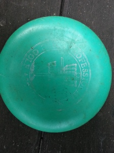 New PDGA members get a PDGA-stamped disc. The author's is now a well-worn practice putter