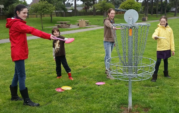 disc golf homeschool kids